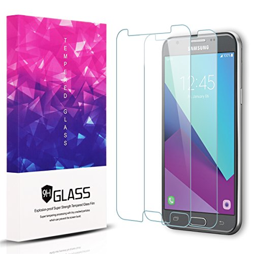 Samsung Galaxy J7 2017 Screen Protectors, [2-Pack] 2.5D 9H Hardness Tempered Glass Screen protector For Samsung Galaxy J7 2017, J7 V 2017, J7 Prime with Lifetime Replacement Warranty -Clear