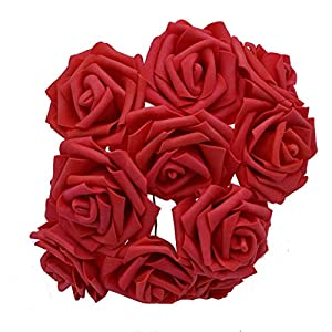 Rvbyjfg Bubble Rose Flowers Bridal Bouquet Family Wedding Decoration F06red 50