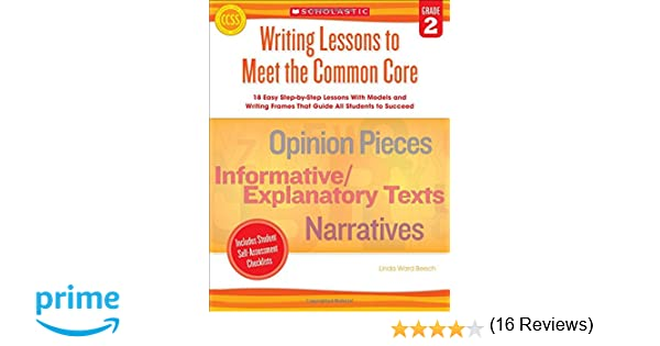 Amazon.com: Writing Lessons To Meet the Common Core: Grade 2: 18 ...