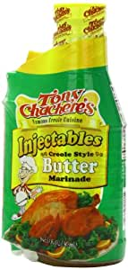 Tony Chachere Marinade, Creole Butter, 17 Ounce (Pack of 6)