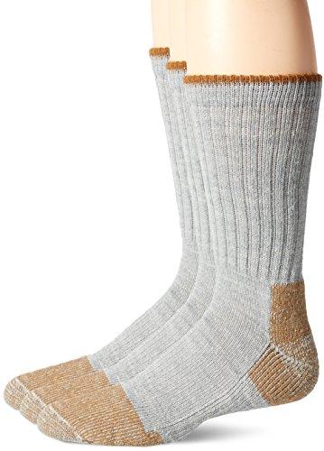 Fox River Men's Wick Dry Steel-Toe Wool Crew, Grey, x Large (River Socks Fox Wool)