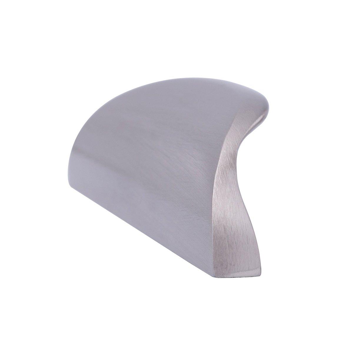 Lunghezza impugnabile: 7,82 cm 3,2 cm da centro a centro Basics stile moderno confezione da 10 Maniglia a impugnatura inferiore per cassetti Nero uniforme