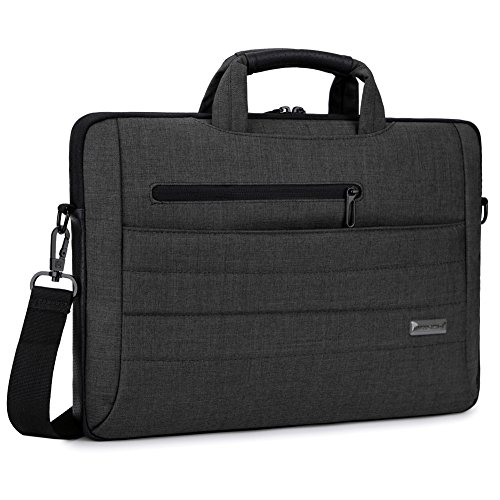 Brinch 17.3 Inch Multi-functional Suit Fabric Portable Laptop Sleeve Case Bag for Laptop, Tablet, Macbook, Notebook - Black by BRINCH