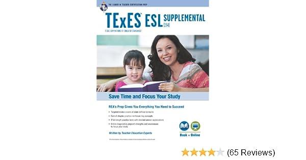 .com: texas texes esl supplemental (154) book + online (texes ...