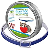 Waterproof Flea & Tick Collar For Cats - Kittens - Dogs & Pets By Frankie Bee Company   Powerful & Safe Ingredients For All Ages & Breeds   8-Month - Unique & Protective Formula For Your Cat
