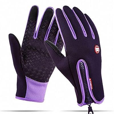Waterproof Touchscreen Cycling Gloves Winter Warm Full Finger Outdoor Ski Snow Bike Women Men Adjustable Size Glove for Smart Phone