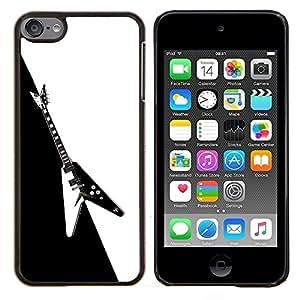 All Phone Most Case / Oferta Especial Duro Teléfono Inteligente PC Cáscara Funda Cubierta de proteccion Caso / Hard Case Apple iPod Touch 6 6th Touch6 // Guitar Heavy Metal Music Rock Black White