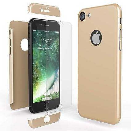 Cover Protettiva Integrale Fronte / Retro oro per Apple iPhone X