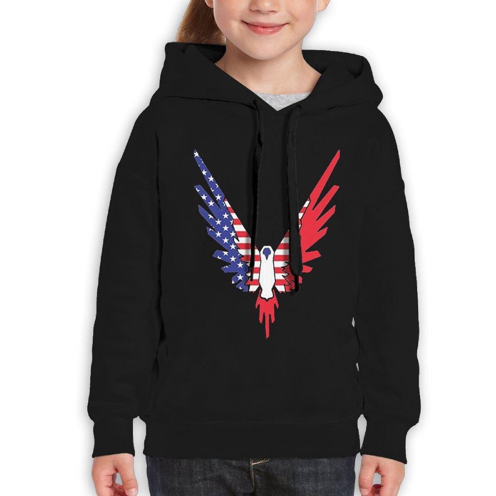 Addie E. Neff Pullover Parrot Logo Galaxy Logan Paul Logang USA Flag Boys,Girls,Youth Currents Sweatshirt Pocket Hoodie M Black