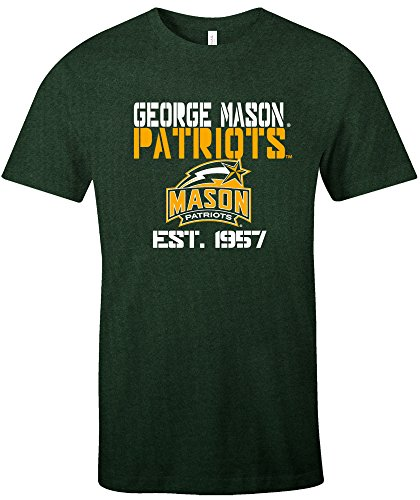 - Image One NCAA George Mason Patriots Est Stack Jersey Short Sleeve T-Shirt, Forest Green,X-Large