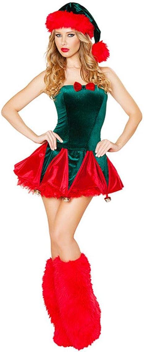 CHIYEEE Weihnachten Bekleidung Weihnachtsmann Damen