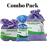 baking soda linen - Combo Pack. Bamboo Charcoal Deodorizer Power Pack Bundle with Mini Bags & Regular Bag, Best Air Purifiers for Smokers & Allergies, Perfect Car Air Fresheners, Remove Smells for Home & Bathroom (3,PBP)