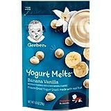 Gerber Yogurt Melts Freeze-Dried Yogurt Snack made with real fruit, Banana Vanilla, 1 oz