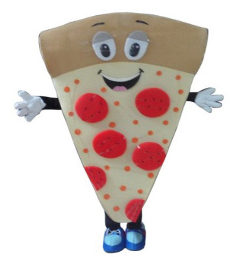 Pizza Mascot Costume Adult Size Fancy Dress Halloween