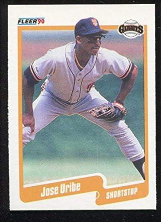 Amazoncom Jose Uribe Baseball Card 1990 Fleer Base 74