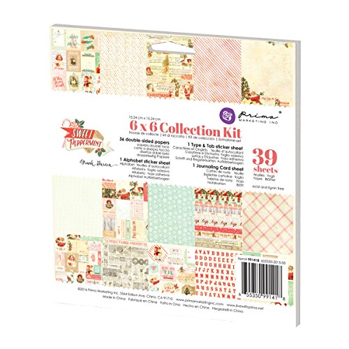 (Prima Marketing 6x6 Collection Kit - Sweet Peppermint)