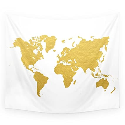 Amazon society6 gold world map wall tapestry small 51 x 60 society6 gold world map wall tapestry small 51quot gumiabroncs Images