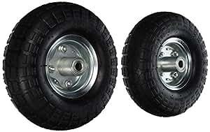 """2 NEW 10"""" AIR Tires Wheels 5/8"""""""