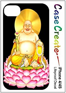 Happy Fat Buddha Decorative Sticker Decal for your iPhone 4 4S Lifeproof Case