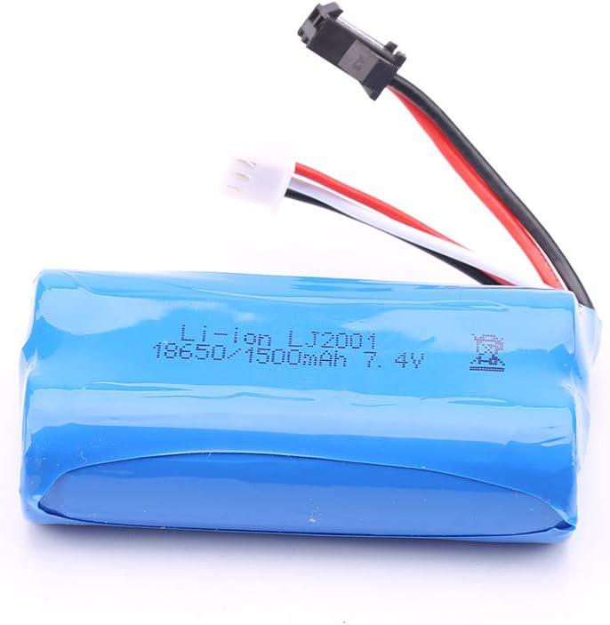 elegantstunning 18650 7.4V 1800MAH Lipo Bater/ía SM Plug para WL-Toys 104311 1//10 2.4G 4x4 Crawler RC Piezas de actualizaci/ón de autom/óviles