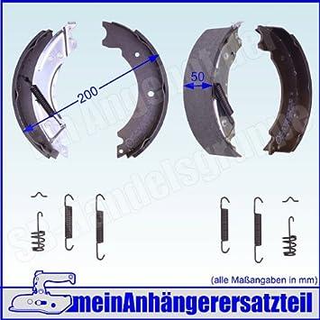 Meinanhängerersatzteil Bremsbacken Set Für Knott Radbremse 20 2425 1 20 964 1 200x50mm Bremsbeläge Auto