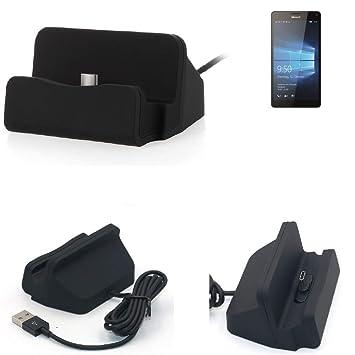 K-S-Trade Dockinsgstation für Microsoft Lumia 950 XL Dual SIM Ladestation Dock Ladegerät Docking Station inkl. USB Typ C Kabe