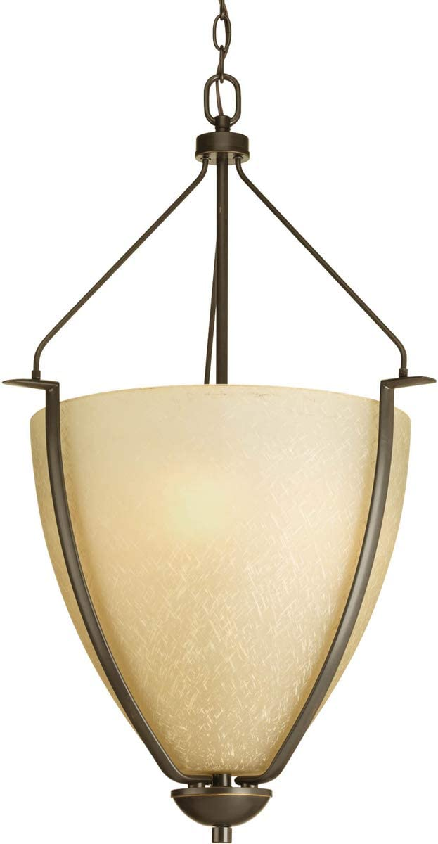 Progress Lighting P3969-20 Transitional Three Light Foyer Pendant from Bravo Collection Dark Finish, Antique Bronze