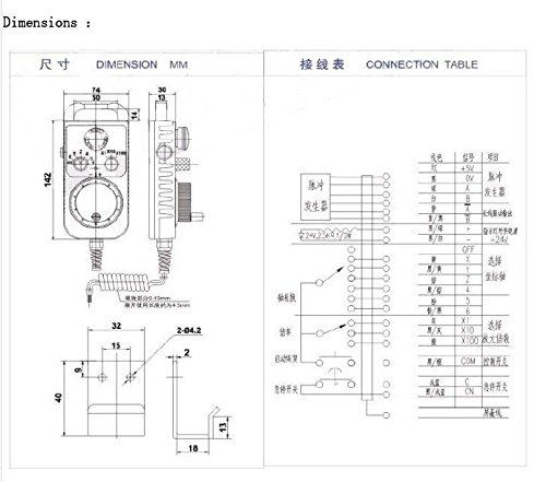 GOWE CNC Controller Hand wheel Encoder 6 axles MPG Manual Pulse Generator with E stop Milling Machine color:voltage 25ppr 1