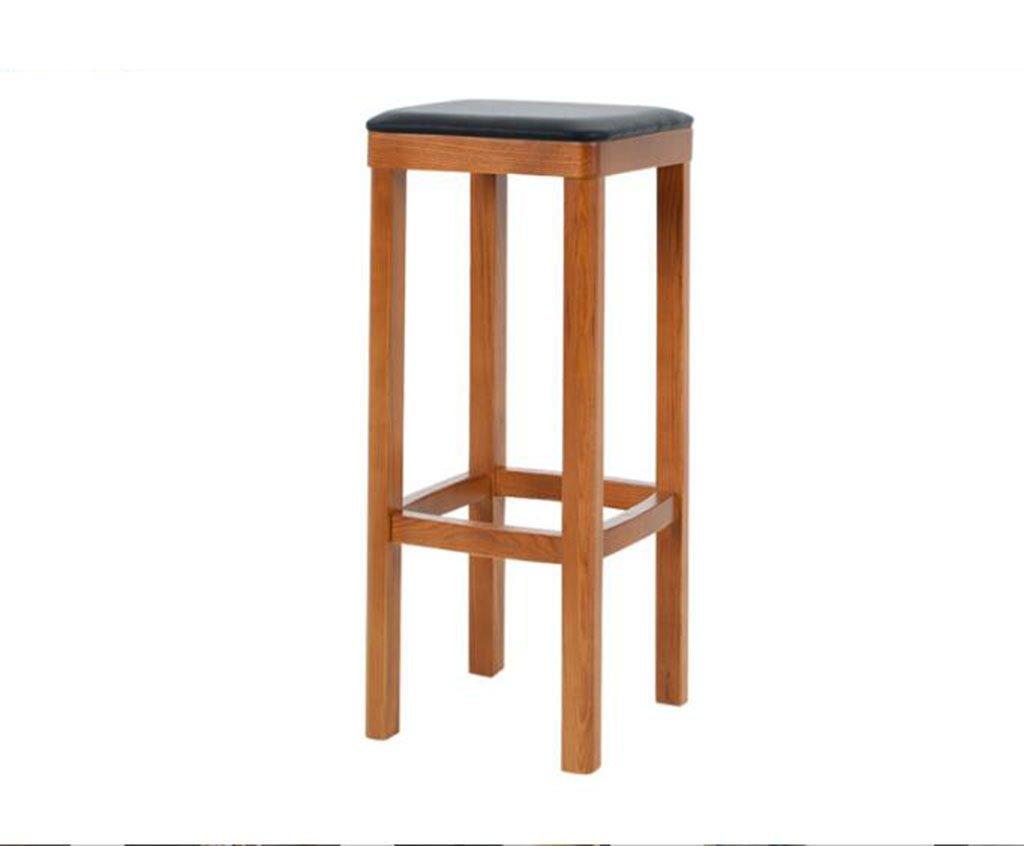 tabouret en bois Continental minimaliste bar chaises bar chaises - solide bois bar tabouret - bois couleur + PU