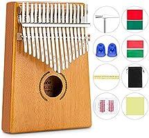 RenFox Kalimba 17 Schlüssel,DaumenKlavier Thumb Piano Finger Solide Kalimba Instrument mit Zubehör mit Lernanleitung und...