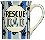 "Enesco Our Name is Mud by Lorrie Vesey Rescue Dad Mug, 4.5"", Blue"