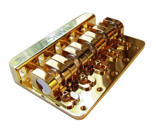 Babicz FCH5GD Full Contact Hardware, 5-String Bass Bridge, Gold