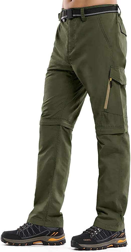 Men's Hiking Pants Convertible Lightweight Zip-Off Outdoor UPF 40 Quick Dry Fishing Safari Cargo Pants