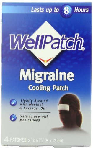 WellPatch Cooling Headache Pads, Migraine, 4 - 2 x 5 1/8-Inch Pads by WellPatch