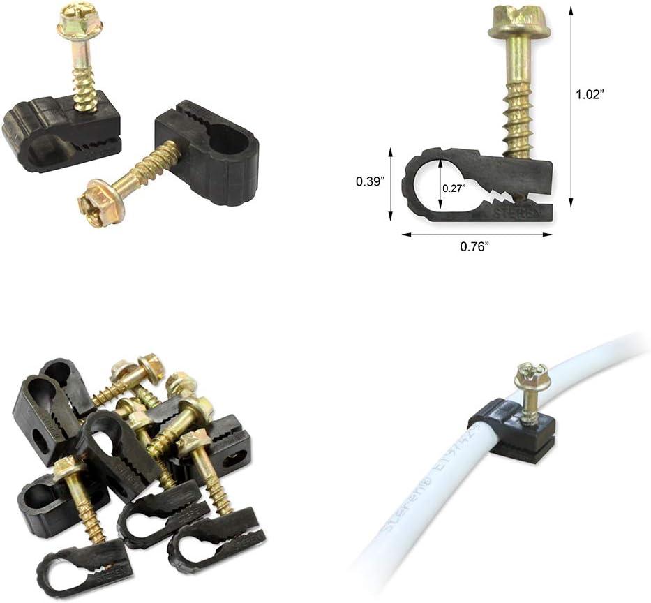 100 unidades, para cable de 7 mm de di/ámetro Legrand LEG31526 Caja de grapas para cable el/éctrico color gris
