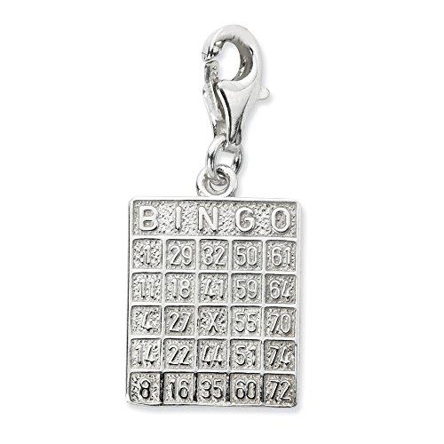 Bingo Sterling Silver (Sterling Silver Bingo Card w/Lobster Clasp Charm)