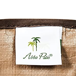 Abba Patio Air Conditioner Cover, Round, Brown