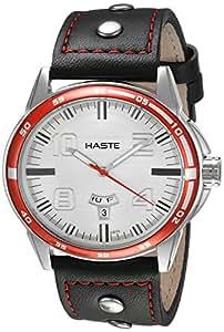 Haste 112462062 Reloj Análogo para Hombre, Redondo, blanco/negro