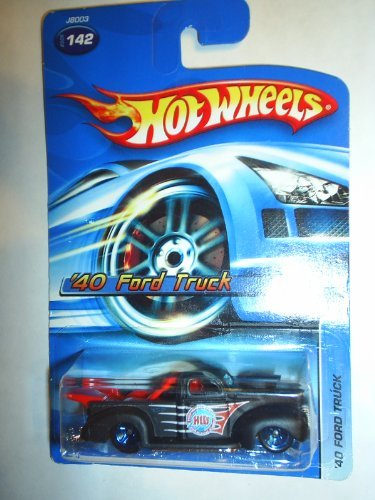 40 Ford Truck - #2006-142 '40 Ford Truck Black Collectible Collector Car Mattel Hot Wheels 1:64 Scale