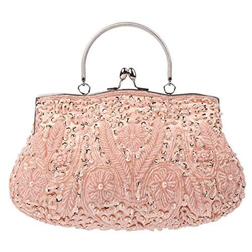 Mode Main Femmes De pour Couleurs Diverses Mariée Sac De Mariage Pink pour Pochette Fête De À en Soirée Sac Perles XIANGBAO Paillettes Embrayage OEqRTdO