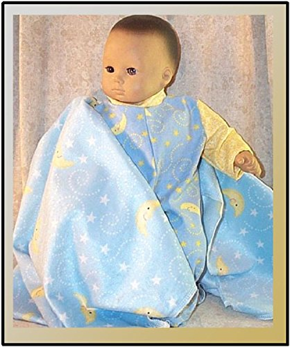 Doll Clothes fit 15 inch American Girl Bitty Baby Pajamas Blanket Moon Stars 2pcs