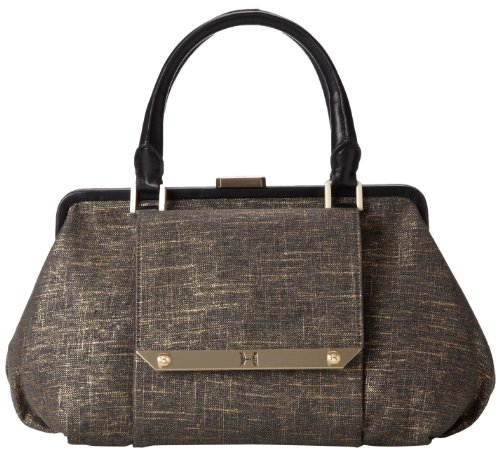 Halston Heritage MF250001N2 Satchel,Black Multi,One Size, Bags Central
