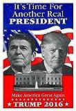 Pyramid America Ronald Reagan Donald Trump Campaign Laminated Dry Erase Sign Poster 12x18