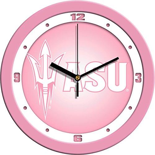 NCAA Arizona State Sun Devils Wall Clock - Pink
