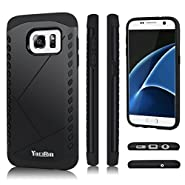 S7 Case, Galaxy S7 Case - YOKIRIN 2 in 1 Design [Heavy Duty] Hard Plastic TPU Protective Case Bumper for Samsung Galaxy S7