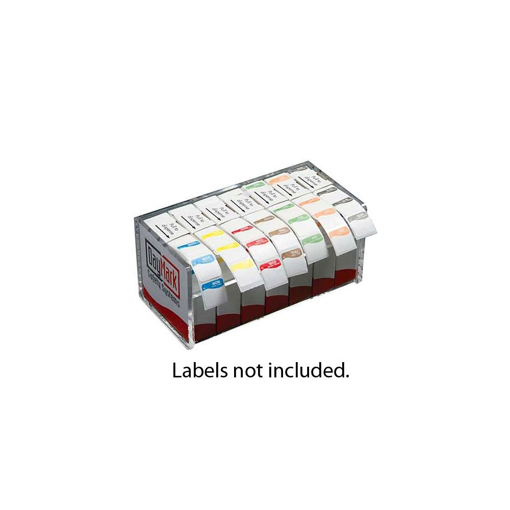 DayMark 110501 Clear Acrylic 7-Day Label Dispenser