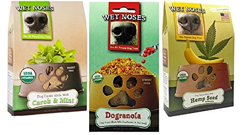 Wet-Noses-Variety-Pack-of-3-All-Natural-Dog-Treats-1-Hemp-Seed-Banana-1-Agave-Pear-and-1-Carob-Mint-15-oz-Each