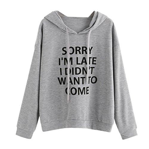 HOT SALE, AIMTOPPY Women O-Neck Hoodie Jumper Long Sleeve Letter Print Sweatshirt Pullover Tops Jacket outwear (XL, - Top Brand Name