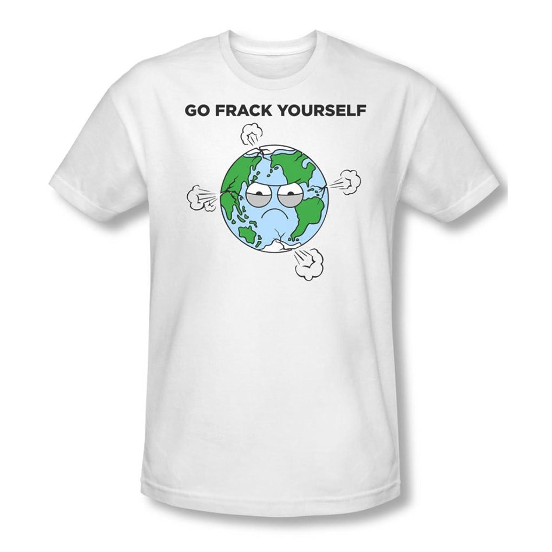 Frack - Mens Slim Fit T-Shirt In White, Large, White