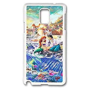 Retro Design with The Little Mermaid Lightweight Printed Hard Plastic case cover for Samsung Galaxy Note 4 -White042801
